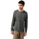 Craghoppers NosiLife Bayame Longsleeve T-Shirt Men Black Pepper Marl